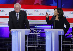dramatic race moment in 2nd democratic debate; foreign policy barely feature