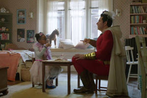 watch the best 'shazam' family member darla have a hilarious tea party in this exclusive deleted scene (video)
