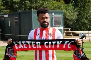 no way ajose! exeter city beat lincoln city and blackpool to signing of strike ace nicky ajose
