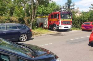 fire engine blocked in narrow lane prompts crew to issue parking 'rules' to drivers