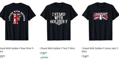 'grossly offensive' - amazon slammed over 'soldier f' t-shirts