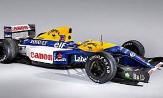 nigel mansell's working williams-renault fw14b formula 1 car on sale at goodwood