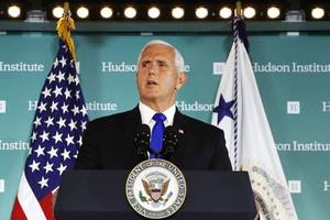pence's abrupt return to washington remains a mystery