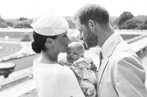 baby archie christening photos released by meghan markle and prince harry