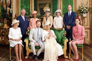 royal christening pictures released as meghan markle and prince harry share special day with family