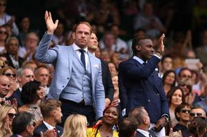 Wales captain Alun Wyn Jones at Wimbledon 2019 to watch Rafael Nadal and Roger Federer in Centre Court Royal Box