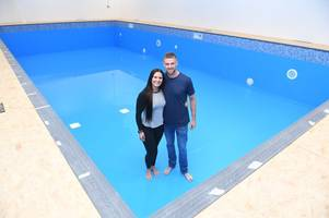 former youth olympics champ opens her own swim school pool