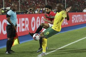 african cup of nations: despair for mohamed salah as egypt crash out after south africa defeat