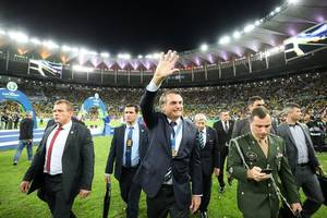 copa america: jair bolsonaro takes center stage as brazil seals title