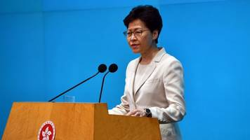 hong kong leader says extradition bill the sparked protests 'is dead'