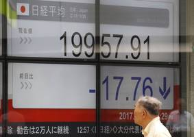 Nikkei rises modestly as yen falls ahead of Fed chief's testimony