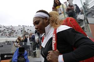 williams fined for damaging wimbledon court