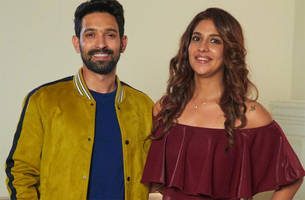 photos: vikrant massey and harleen sethi on the sets of broken but beautiful 2