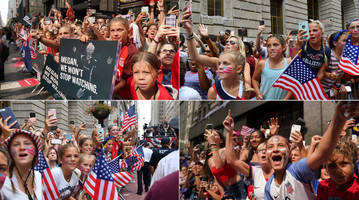 USWNT's Inspirational Impact Clear at Women's World Cup Victory Parade