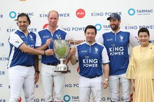 prince william and and prince harry play polo in tribute to late leicester city chairman vichai srivaddhanaprabha