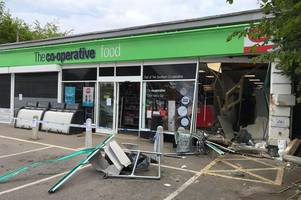 three men jailed for total of 15 years for co-op liphook jcb ram-raid