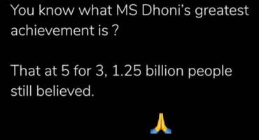 Smriti Irani's Instagram post for MS Dhoni is way too epic!
