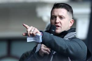 tommy robinson sent to prison for nine months