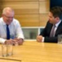 National Leader Simon Bridges meets with Australian Prime Minister Scott Morrison