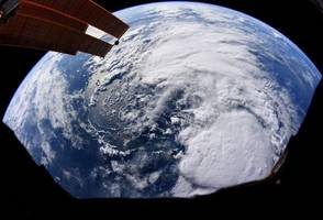 An astronaut captured an image of Tropical Storm Barry from space as it bears down on Louisiana