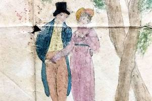 Tragic true love-story on a Valentine card from 1820 found in a shoebox