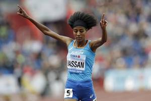 hassan refreshes world record, gatlin outshines lyles in diamond league monaco