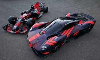 aston martin valkyrie joins red bull formula 1 racing car at silverstone circuit