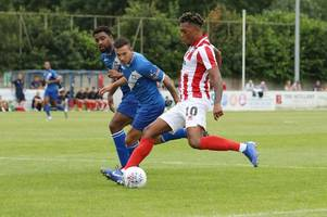 verdict on cheltenham town's friendly defeat at stratford town: new signings on show, brentford midfielder and second chance for ex-leicester city defender