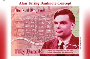 the face of the new £50 note is revealed as former sherborne school pupil alan turing