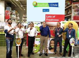 Mr. Charif Christian Carvajal, Marketing Director for Asia, Chilean Fruit Exporters' Association Launched a Mega Retail Promotion for Chilean Kiwifruit at LOTS Wholesale Solutions, Noida