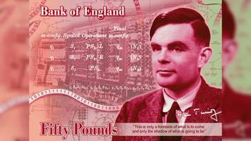 Alan Turing Chosen as New Face of England's £50 Note