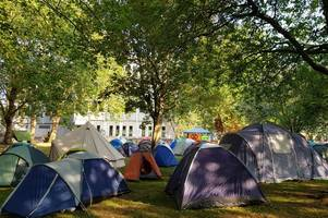 why people are camping in bristol's castle park this week
