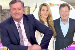 piers morgan hits out at his wife over 'double standards' on good morning britain