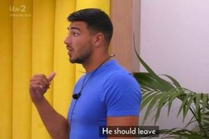 love island's tommy branded 'snake' by furious viewers after telling michael he should leave