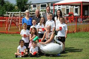 pupils host tea party for one tamworth teacher flying the nest after 25 years