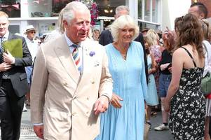 prince charles and camilla, duchess of cornwall, in devon today
