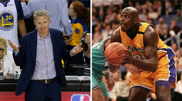 shaq might need to kiss steve kerr's feet thanks to warriors' finals appearances