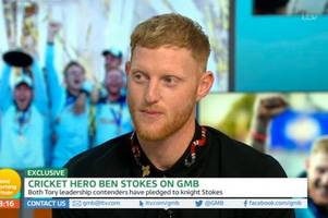 excruciating moment piers morgan fawns over ben stokes in cringe-worthy good morning britain interview
