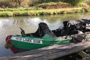 arsonists, 13, posted about £15,000 godalming houseboat fire on instagram