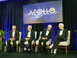 apollo astronauts meet at historic launchpad