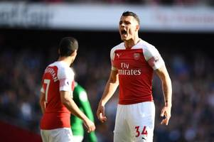 granit xhaka responds to arsenal captain talk amid laurent koscielny controversy