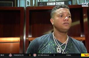 starlin castro on breaking up no-hitter, approach at the plate