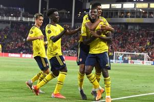 arsenal's unai emery suggests eddie nketiah's match-winning cameo against bayern munich could spell bad news for bristol city