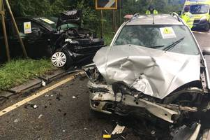 Dramatic crash pictures released by fire bosses to try to get drivers to slow down