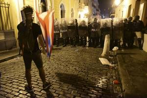 Police Fire Teargas, Rubber Bullets At Thousands Of Protesters In Puerto Rico Calling For Governor's Resignation
