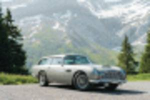 aston martin db5 shooting brake, other rare models head to auction