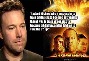 ben affleck's commentary for the armageddon dvd is comedy gold