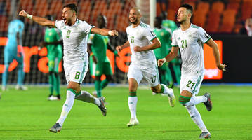 watch: algeria scores on looping deflection in africa cup of nations final