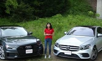 new audi a6 takes on mercedes e-class in luxury sedan review