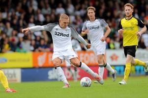 martyn waghorn hat-trick puts derby county in control at half-time against burton albion
